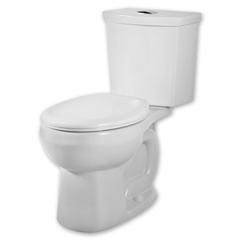 American Standard 2889.216.020 H2Option Siphonic Dual Flush Round Front Toilet, White, 2-Piece