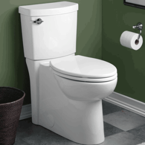 American Standard 2989.101.020 Concealed Trap way Cadet 3 Right Height Elongated Flowise 1.28 gpf Toilet with Seat, White