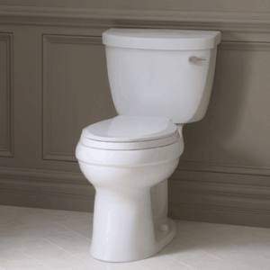 kohler k36090 cimarron comfort height elongated 128 gpf toilet with aquapiston technology
