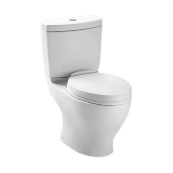 TOTO CST412MF.01 Aquia Dual Flush Elongated Two-Piece Toilet, 1.6GPF & 0.9GPF, Cotton White