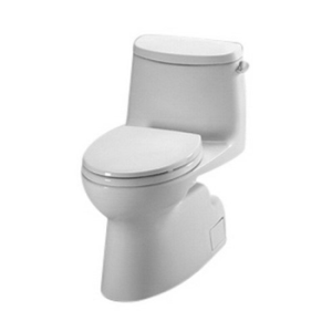 Toto MS614114CEFG#11 Carlyle-2 One-Piece High-Efficiency Toilet with SanaGloss, 1.28GPF, Colonial White