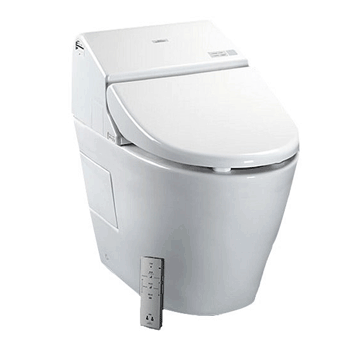 Toto MS970CEMFG#01 1.28-GPF/0.9-GPF Washlet with Integrated Toilet G500, Cotton